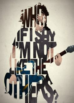 dave grohl foo fighters guitar music musician lyric lyrics quote quotes type typography