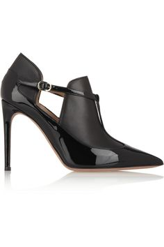 Valentino Matte and patent-leather ankle boots NET-A-PORTER.COM