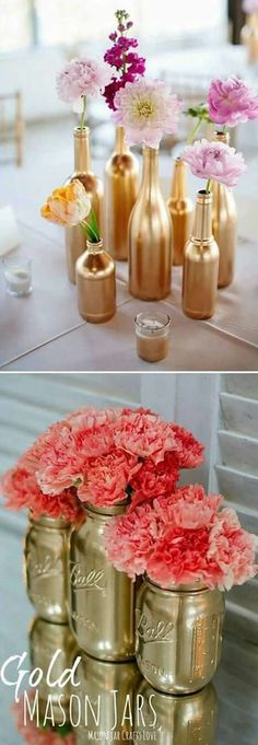 Set aside a weekend for these easy crafts to make and sell. These are the projec… Set aside a weekend for these easy crafts to make and sell. These are the projects you need, if you want to start selling! Easy Diy Mother's Day Gifts, Diy Mothers Day Gifts, Mother's Day Diy, Crafts To Make And Sell, Gold Diy, Eco Deco, Diy Spray Paint, Flower Arrangements, Flowers Vase