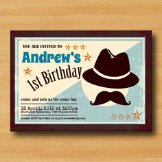 Birthday Invitation  A Little Man party invites Top by miprincess