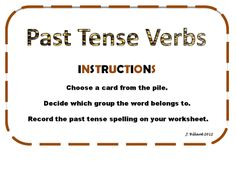 A game I created for practising the rules for past tense verbs.
