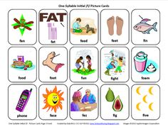 Initial F: Free Speech Therapy Articulation Picture Cards