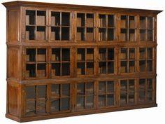 Mission Oak three door Bookcase / Arts and Crafts   White oak ...