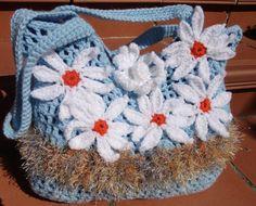 Bolso crochet con margaritas por BolsosBags en Etsy, €65.00