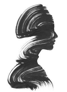 See Art Print, monochrome art print, black & white wall art, contemporary…