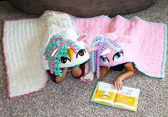 Crochet Hooded Unicorn Blanket Pattern