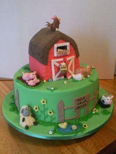 Cute farm birthday cake!
