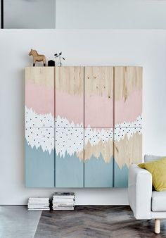 FROM PLANE CABINETS TO WALL MURAL / STORAGE SPACE