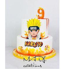 Naruto cake by Cindy Sauvage Naruto Birthday, Boy Birthday Parties, 9th Birthday, Bolo Do Naruto, Naruto Party Ideas, Playstation Cake, Boat Cake, Anime Cake, Movie Cakes