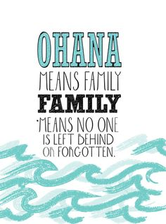 ohana means family.. lilo and stitch disney... Stretched Canvas