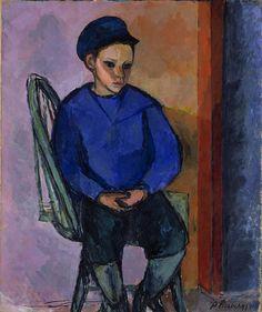 Jean Heiberg (1884–1976), Nordlandsgutt, 1910, Olje på lerret, 87x73 cm | Nasjonalmuseet, Oslo