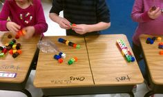 Use dry erase marker on desks to make place value mats...fun idea for 2 digit addition and subtraction!!!