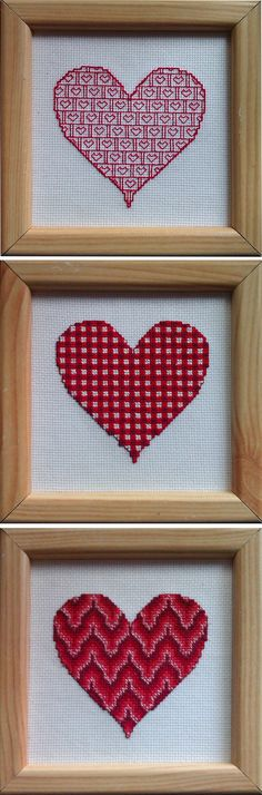 A free cross stitch pattern of a Valentine's heart in a bautiful bargello pattern. Includes a short description and history of bargello.