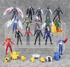 16pcs/set Captain America Civil War PVC Action Figures Avengers Iron Man Ant-Man Falcon Spiderman Bucky Vision Model Dolls 10cm //Price: $US $11.98 & FREE Shipping //     #toys