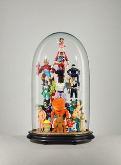 I love this idea to display vintage toys!