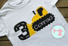 Bulldozer Birthday Shirt-Dozer Birthday Shirt-Construction
