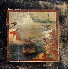 Ill. 28 - Peinture murale (Pompei, Ier s. apr. J.-C.). Jacqueline Leclercq-Marx – La Sirène dans la pensée et dans l'art de l'Antiquité et du Moyen Age . Du mythe païen au symbole chrétien