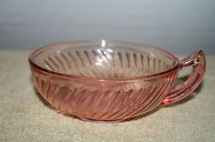 Pink Twisted Optic Soup Bowl