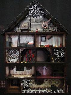 Searchsku: Haunted House Shadow Box Interior