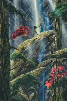befanini:  Beren and Luthien Plight Their Troth by KipRasmussen