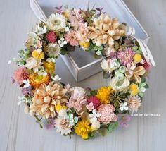 ハンドメイドマーケット minne(ミンネ)| lovely day:ぽかぽかカラーのリース