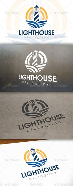Lighthouse Logo Template — Vector EPS #professional security #sea mark • Available here → https://graphicriver.net/item/lighthouse-logo-template/6608334?ref=pxcr