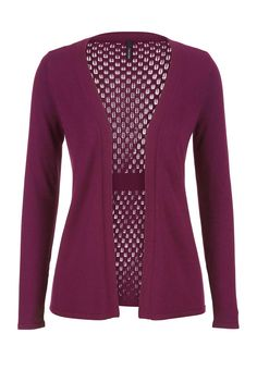 cardigan with elastic side or back gathering, NO POCKETS, not TOO LONG