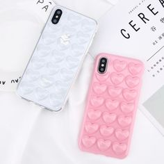 For iPhone X 8 6s 7 Plus 3D Cute Rubber Soft Silicone Pattern Heart Case Cover