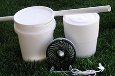 DIY Portable Bucket Air Conditioner (with Pictures) Bucket Air Conditioner, Diy Air Conditioner, Five Gallon Bucket, 5 Gallon Buckets, Tube Pvc, Tent Fabric, Waterproof Tent, Teepee Kids, Camping Hacks