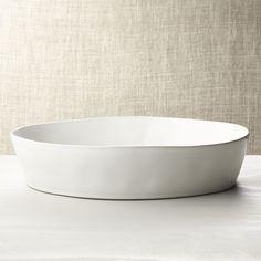 """Marin White Oval 10""""""""x13.75"""""""" Baking Dish"""