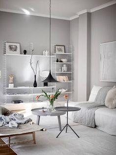 Best of Nordic Design's Most Beautiful Living Rooms - Nordic Design Beautiful Living Rooms, Cozy Living Rooms, Living Room Interior, Living Room Decor, Living Area, Dining Room, Living Room Essentials, Decor Scandinavian, Light Grey Walls