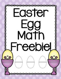 FREE!!!  This product includes creative ideas for using plastic Easter eggs in your classroom. The product also includes a printable recording sheet for students to use! This will increase accountability if using the activity at work stations or math tubs.