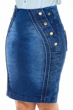 Blue Denim Skirt, Jean Skirt, Casual Skirt Outfits, Denim Outfit, Shweshwe Dresses, Chubby Fashion, Latest African Fashion Dresses, Chic Dress, Jeans Style