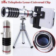 18x Optical Telescope Smartphone Objective Camera Photo Lens+Portable Tripod For Meizu/For Nokia 1020 925 920/For Sony Z Z2/S8 +
