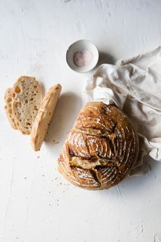 Spelt Sourdough Bread / Photography and Styling by Sanda Vuckovic Bread And Pastries, Spelt Sourdough Bread, Pain Au Levain, Vegan Bread, Fresh Bread, Artisan Bread, Bread Baking, Food Inspiration, Cake