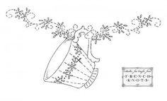 teacup embroidery transfer pattern