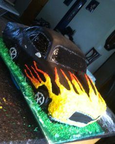 My first car cake