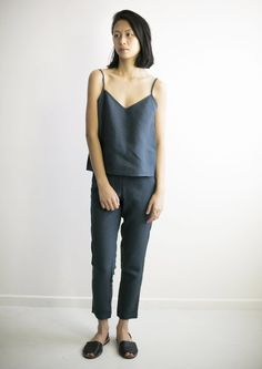 Womens hemp linen suit pant | 55% recycled hemp pulp, 45% organic cotton