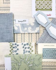 beautiful color palette with spring colors and spring fabrics for a living room decor family room decor or fabric for a soft pastel bedroom decor Family Room Decorating, Family Room Design, Family Rooms, Home Design, Interior Design, Nordic Design, Moodboard Interior, Pastel Bedroom, Living Room Decor