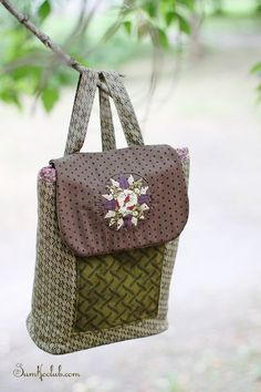 "Nest backpack / Рюкзачок ""Гнездо"" #backpack #handmade #patchwork"