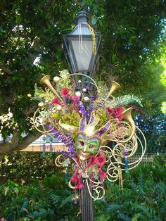 Mardi Gras decor in New Orleans Square, Disneyland