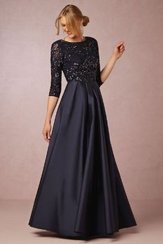 Navy Blue Beaded Mother of the Bride Dress from BHLDN