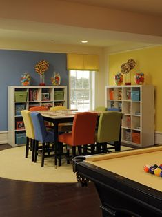 Family Room, Game Room Design, Play Room - love the versatility!