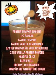 THE Best Pumpkin Smootie! Feels like you are cheating. Pumpkin Pie without the crust! Feel Healthy after drinking vs Bloated after  eating PIE!