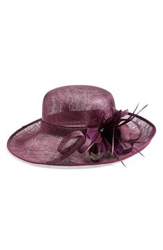 Women's Nordstrom Sinamay Hat with Flower