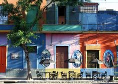 The Most Colorful Towns 7--La Boca, Buenos Aires, Argentina    The most colorful barrio of Argentina's capital, La Boca is a neighborhood settled by Italian immigrants and modeled after the seaside city of Genoa; its architecture, therefore, is strongly European.