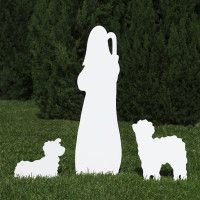 Silhouette White Outdoor Nativity Set – Good Shepherd by Outdoor Nativity Store