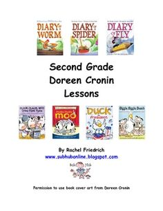 This is a day's worth of emergency substitute teacher lesson plans written on a second grade level with a Doreen Cronin theme. It includes a warm u...