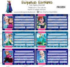 Frozen Labels for Notebook, Frozen Labels for books, Frozen Editable Labels…
