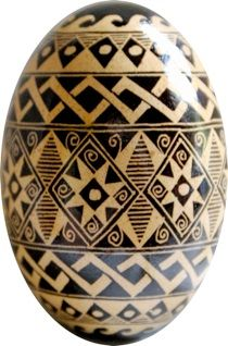 pysanky designs   rather than this one: